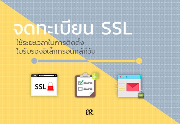 จดทะเบียน SSL : ใช้ระยะเวลาในการติดตั้งใบรับรองอิเล็กทรอนิกส์กี่วัน