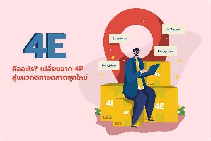 4E คืออะไร เปลี่ยนจาก 4P สู่แนวคิดการตลาดยุคใหม่
