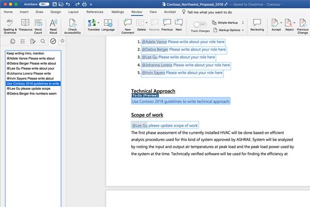 Microsoft ทดสอบคุณลักษณะ To-do ช่วยเพิ่มความรวดเร็วในการทำงานร่วมกันใน Word