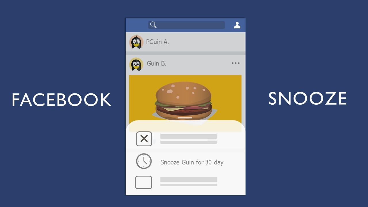 Facebook เพิ่มปุ่ม Snooze เพื่อปิดการแจ้งเตือนเพื่อนและเพจที่ไม่ต้องการเห็นได้ชั่วคราว