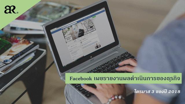 Facebook เผยรายงานผลดำเนินการของธุรกิจไตรมาส 3 ของปี 2018