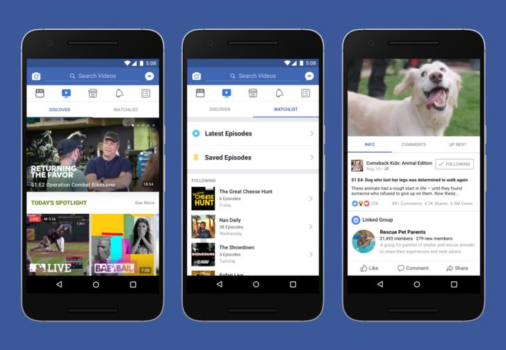 Facebook อาจมีการเปิดตัว Watch หน้าสำหรับวิดีโอคอนเทนต์ให้กับผู้ใช้ทั่วโลกภายในปีนี้