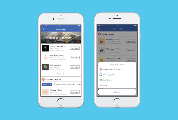 Facebook เพิ่ม Order Food สั่งอาหารและจัดส่งได้ถึงบ้าน
