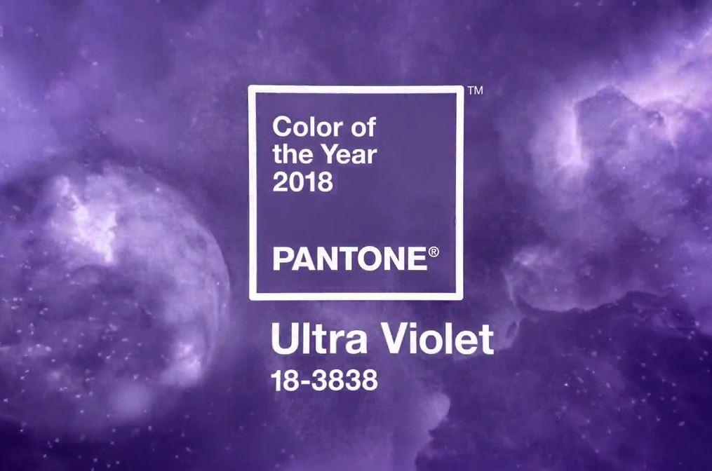 Pantone ประกาศให้สี ULTRA VIOLET เป็นสีประจำปี 2018