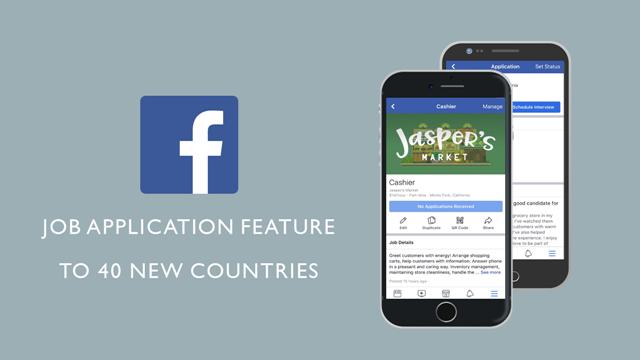 Facebook กำลังขยายขีดความสามารถฟีเจอร์สมัครงานไปยัง 40 ประเทศใหม่