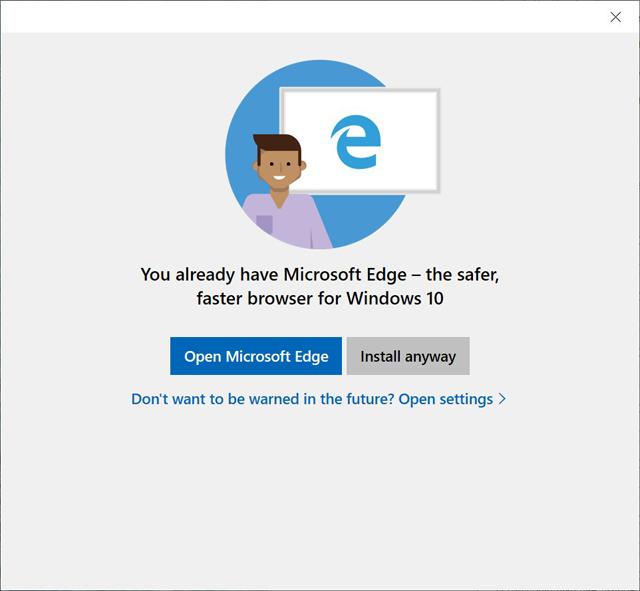 Microsoft ทดสอบแจ้งเตือนผู้ใช้ Windows 10 ไม่ใช้ติดตั้ง Chrome หรือ Firefox