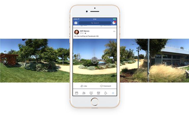 แอพพลิเคชั่น Facebook บนมือถือ สามารถถ่ายภาพได้ 360 องศา