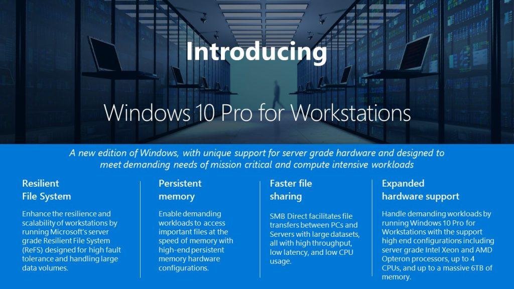Microsoft เผยโฉม Windows Workstations รุ่นใหม่สำหรับผู้ใช้งานสมรรถนะสูง